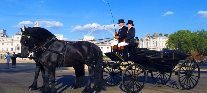 MAGICAL Horse Drawn Carriage Tour via BUCKINGHAM PALACE